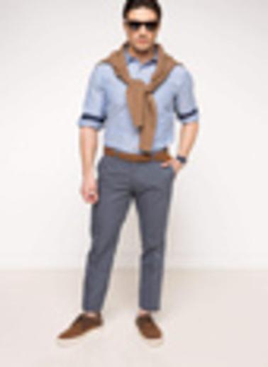 DeFacto Oxford Regular Chino Pantolon Lacivert